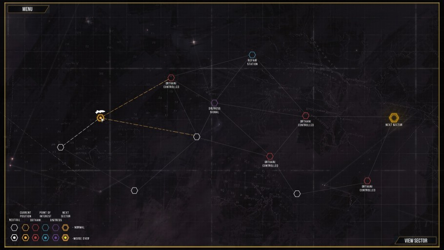 Distant Star Sector Map