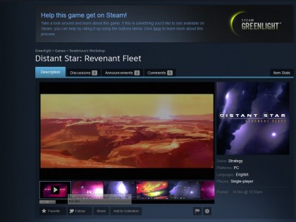 Distant Star on Steam Greenlight!