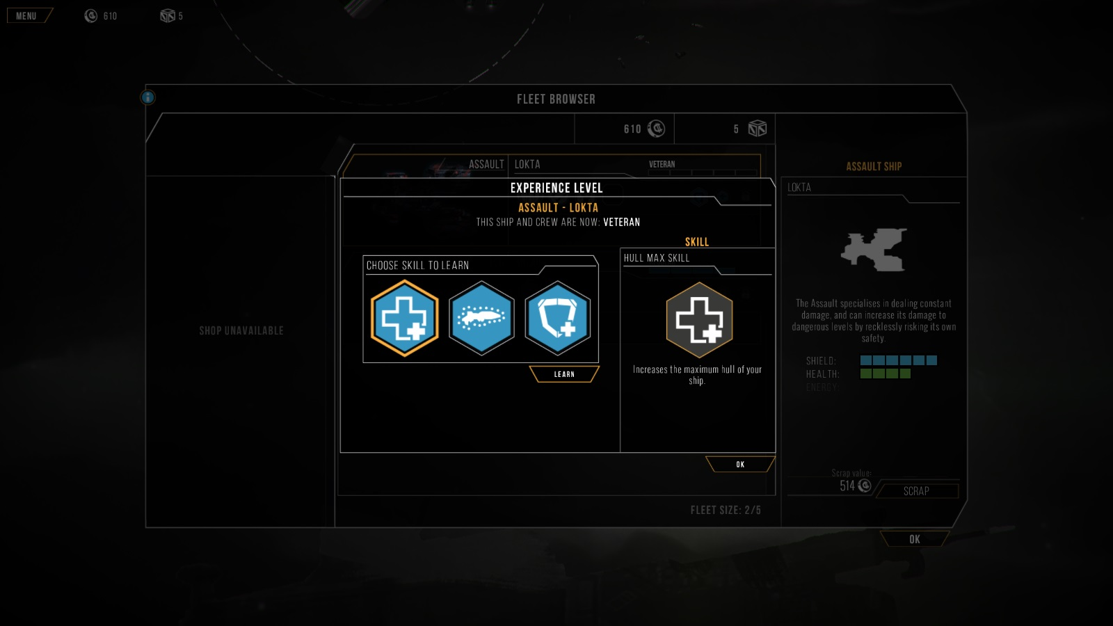 Distant Star: Revenant Fleet Skills System